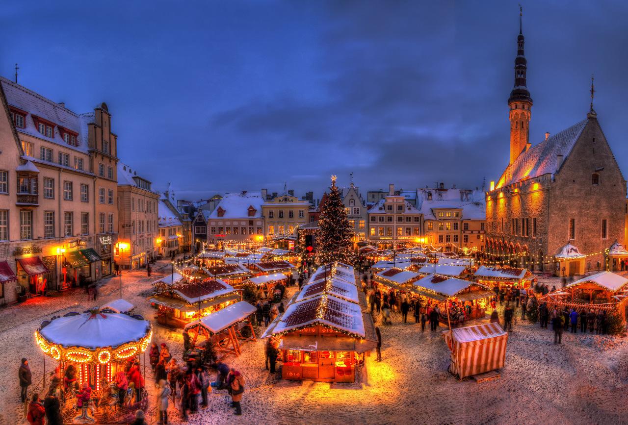Новогодняя сказка Прибалтийских столиц! Таллин-Рига-Вильнюс